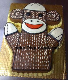 Sock monkey cake - Jim would love this