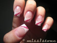 french with pink beads - Nail Art Gallery by NAILS Magazine