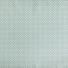 Mint fretwork fabric from Caitlin Wilson Textiles--pretty window covering for M's room