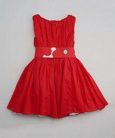 Red Poppy Degas Dress - Toddler & Girls #zulily #ad *lovely