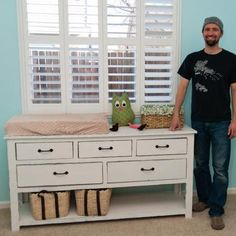 DIY CHANGING TABLE. because buying a changing table is a WASTE when you can buy a dresser that can be used for years!