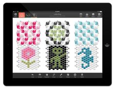 Perl'Art : Beads Pattern Software for iPad Jewelry Patterns, Beading Patterns, Diy Bead Embroidery, Ipad App, Chainmaille, Jewellery Making, Software, Presentation, Weaving