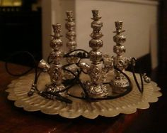 Miniature doll hookah - from beads and twine