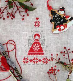 Angioletto - ricamo natalizio