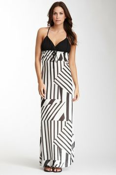 S.I.L.K. Silk Geometric Print Maxi Dress on HauteLook