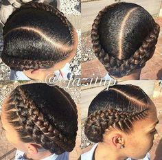Two Braids Natural Hair Ideas Two Braids Natural Hair. Here is Two Braids Natural Hair Ideas for you. Two Braids Natural Hair hair care ideas 2 braids and 2 low buns beauty haircut. Natural Hair Braids, Natural Hair Care, Natural Hair Styles, Girl Hairstyles, Braided Hairstyles, Mixed Hairstyles, Black French Braid Hairstyles, Cornrolls Hairstyles Braids, French Braids Black Hair