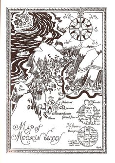 "Map of Moomin Valley --""Finn Family Moomintroll"", by Tove Jansson (1948)"