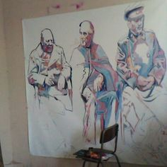 Politice in progres on canvas Art Day, Contemporary Art, Thats Not My, Politicians, The Originals, Canvas, Modern, Pictures, Painting