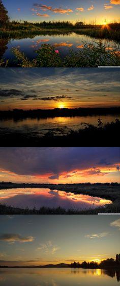 great lake sunset scenery
