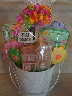 New home/realtor cookie basket