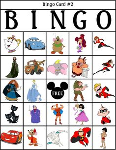 RobbyGurl's Creations: printable Disney bingo cards! Tons of wonderful crafts to do with your kiddos on this page