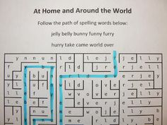 Spelling Word Mazes...this works for any grade!