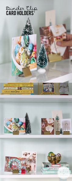 Display all of your holiday cards festively with binder clips #diy