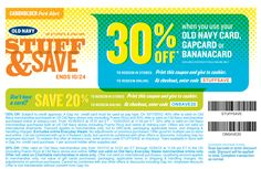 20% off and more at Old Navy, or online via checkout promo ONSAVE20 coupon via The Coupons App