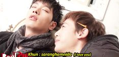 Real 2PM - Chansung & Nichkhun  - saranghamnida (I love you)