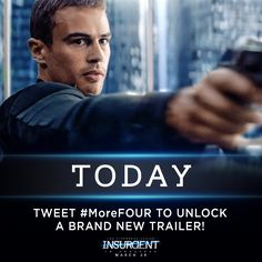 "Insurgent Movie - Shailene Woodley) Exclusive Trailer – ""Fight Back"" Divergent Fandom, Divergent Trilogy, Theo James, New Trailers, Movie Trailers, Tris And Four, Divergent Insurgent Allegiant, Veronica Roth, Shailene Woodley"