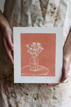 This artwork forms part of Kirsten's Lockdown mini series of monoprints, all made during the South African Lockdown period of the pandemic. Pink still life artwork of flowers in a vase Flower Vases, Flowers, Mixed Media Art, Still Life, Period, African, Mini, Artwork, Instagram