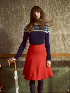 Me encanta esta falda roooooja