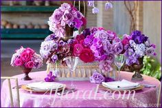 jessica+purple+wedding-centerpiece