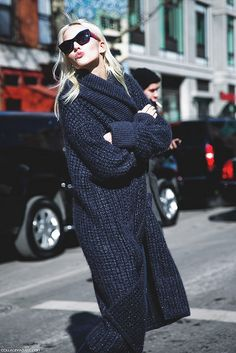 New_York_Fashion_Week-Street_Style-Fall_Winter-2015-Model_Maxi_Coat-Rodarte by collagevintageblog, via Flickr