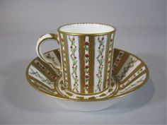 19TH CENTURY  SEVRES STYLE CUP & SAUCER