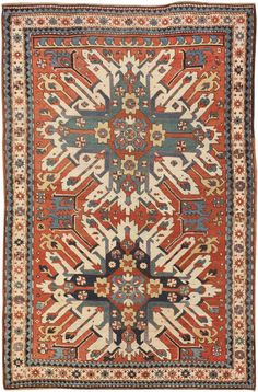 antique kazak rug.