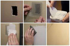 Réparer un trou dans un mur en plâtre