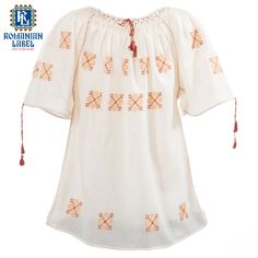 $54 Longer than the usual traditional blouse, the traditional dress for children is perfect for a sunny summer day Traditional Dresses, Off Shoulder Blouse, Shirt Dress, Empire, How To Wear, Shirts, Clothes, Children, Tops