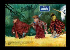 WOOLRICH Catalogue by Filippo Scozzari, 1986/87 #woolrich #illustrator