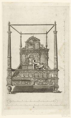 Hemelbed, Crispijn van de Passe (II), anoniem, anoniem, 1642