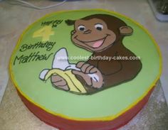 Homemade Curious George Birthday Cake: I made this Curious George Birthday Cake for my partner's nephew for his birthday present. He loves monkeys and seeing as George is his fav I thought it