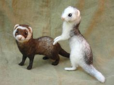 needle felted ferret - Google Search