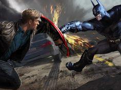 Batman vs Captain America | Batman Vs. Superman' Opening Same Weekend As 'Captain America 3 ...