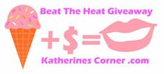 Beat The HeatGiveaway- Its hot outside and I amhaving a giveaway to help you beat the heat. Iinvited a few of mybloggy friends to join in the fun. Enter to win some cold hard cash and a set of fun ice cream bowls and spoons for prizes ( sorry ice cream not included). I am happy to bring you