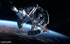 Realistic Spaceship Illustrations - The Hermes by GrahamTG Scrap Mechanics, Space Ship Concept Art, Sience Fiction, Hard Science Fiction, Starship Concept, Sci Fi Spaceships, Sci Fi Ships, Spaceship Design, Star Trek Ships