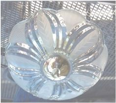 """Harbor Breeze Light Fixture - 13"""" dia. Brass, Acid-etched, Frosted & Clear Glass #Unspecified"""