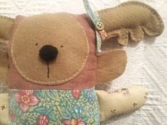 Ton doudou Art Et Design, Objet D'art, Teddy Bear, Animals, Creative Workshop, Softies, Fabrics, Objects, Animales