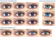 FreshLook ColorBlends colored contacts are the most popular cosmetic contact len… - Eye Lens Contact Lenses For Brown Eyes, Natural Contact Lenses, Cosmetic Contact Lenses, Coloured Contact Lenses, Natural Color Contacts, Colored Eye Contacts, Blue Contacts, Pretty Eyes, Beautiful Eyes