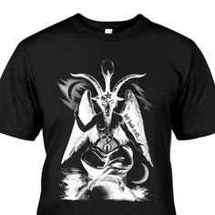 A personal favorite from my Etsy shop https://www.etsy.com/listing/564433757/baphomet-negative-satanic-tee-by-left