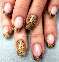 Sculpted gel enhancement with leopard print. #pinkandwhites #frenchnails #gelnails #nailart #handpaintednails #naildesign #nails #lisakorallus #liquidglamour #nailpictures #tigereye #leopard #leopardprint #nailsofpinterest