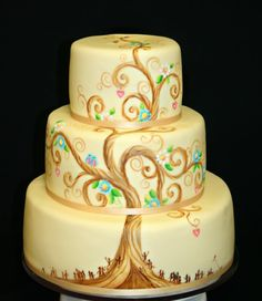 Could be a Wedding or a Birthday cake...I rather like this :)