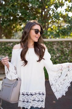 3be4b0bbe377f3 20 Best Bell Sleeves images in 2017 | Bell sleeves, Bell sleeve top ...