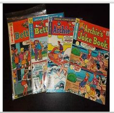 The Archie comic books were a favorite. I loved Veronica and Betty in the stories.