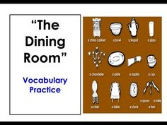 Speak English Now The Dining Room Vocabulary