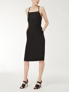 Linen and viscose dress