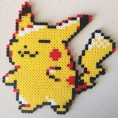 Pikachu Pokemon perler beads by jyphlosion