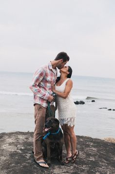 While snooping through Alexandra Wallace's blog, we spotted Anisa wearing our Blowfish Shoes style Granola sandal!! Such cute engagement photos on the beach!