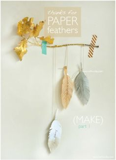 DIY feathers - could be cool if dip-dyed