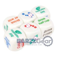 "OMG I love these fun dice and other bar tools and novelty items you can get for entertainment and style purposes at #BARZZGear with 20% off all prices with Promo Code ""BARZZ020"". https://www.shopbarzz.net/"