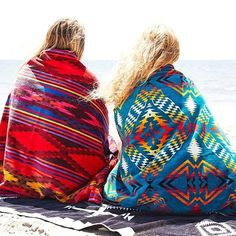 Morning Snuggles with Pendleton. Photo by @bohome_ #pendletontowels #pendleton #friends #beach #morning #weekend *Click the link in our bio to shop today.